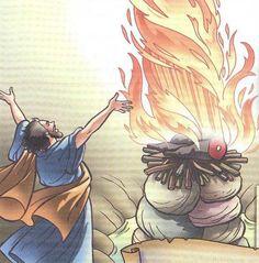 Então caiu fogo do Senhor, e consumiu o holocausto, a lenha, as pedras, e o pó, e ainda lambeu a água que estava no rego. (I REIS 18.38)