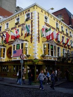 Oliver St. John Gogarty Pub in Dublin, Ireland ... Famous pub in temple bar area with live irish music every night.  My favorite pub in Dublin.