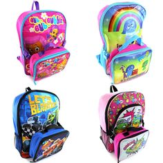 Disney Pixar Nickelodeon Childrens Kids Backpack with Lunch Box #DisneyPixarNickelodeon #16Backpack