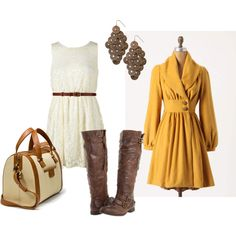 love mustard for fall... and NEED a cute pair of boots like this. not to mention i need an adorable white dress like this for bridal showers/rehearsal dinner!