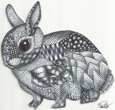 'Zentangle Rabbit' ©Katie Sullivan
