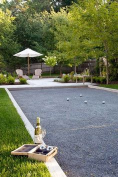 Bocce Court... I have the spot picked out already! I just need to convince the…