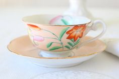 Vintage Maruki Handpainted Japanese China Tea by MariasFarmhouse
