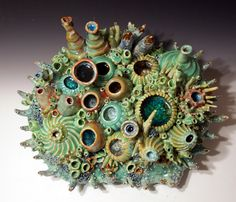 Coral Reef Sculpture by Diane Martin Lublinski.  follow my work at www.Facebook.com/ClayForms