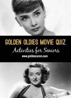 Here's a golden oldies movie quiz! A wonderful opportunity to reminisce with seniors in nursing homes and assisted living facilities. Assisted Living Activities, Senior Assisted Living, Nursing Home Activities, Elderly Activities, Dementia Activities, Senior Activities, Art Therapy Activities, Senior Living, Physical Activities