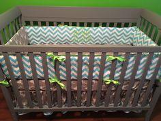 Items similar to Nursery Set Aqua Chevron Hello Bear Buck Mist gray & lime green minky dot CRIB bedding carseat cover, diaper stacker, changing pad cover on Etsy Crib Sets, Diaper Bags, Changing Pad, Crib Bedding, Cribs, Car Seats, Nursery, Etsy Shop