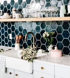 Love these tiles. #FunkyHomeDecor