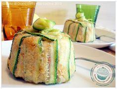 ©Diario della Mia Cucina - Ricette semplici, veloci e golose: Mini timballo di riso con verdure croccanti al limone