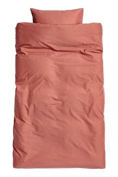 Sengesæt i vasket bomuld - Rustrød - Home All | H&M DK 1