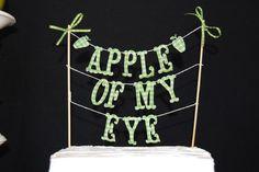 CAKE BANNER  Apple of my eye by bluembellish on Etsy, $15.00