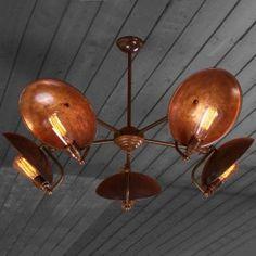 Retro chandelier antiqued brass made in England