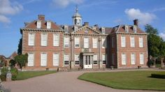 Hanbury Hall, front of the house in spring