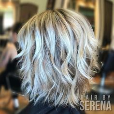 Friday morning highlights.  I covered grays with a cool level 6, added level 8 lowlights and did a watercolor technique with lightener and 8. So pretty.  #balayagehighlights #balayageartists #balayage #behindthechair #americansalon #modernsalon #springfieldmo #417 #hair #highlights #boho #beachy
