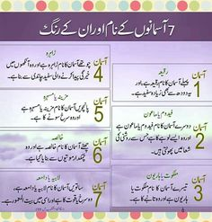 Asman Islamic Knowledge In Urdu, Islamic Teachings, Islamic Dua, General Knowledge Book, Knowledge Quotes, Gernal Knowledge, Islamic Phrases, Islamic Messages, Islamic Posters
