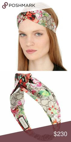 Like New Gucci Headband Authentic Gucci floral printed knot tie headband.  I wore this a few times but still in great condition.  Summer must have, goes with any dress , top , or pants! :) Accepting reasonable offers.       Tags gg bloom floral silk headband head wrap accessories bag crossbody sweater sweatshirt brown pink red sneakers go with purse outfit Gucci Accessories Hair Accessories