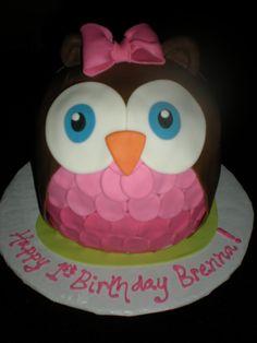 owl birthday cake. So cute!