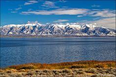 Great Salt Lake from Antelope Island State Park, Utah,