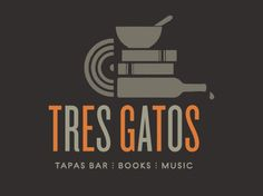 Tres Gatos by Hamilton Hughes Design Book Bar, Tapas Recipes, Drinks Logo, Tapas Bar, Logo Food, Logo Design, Branding, Logos, Jamaica Plain