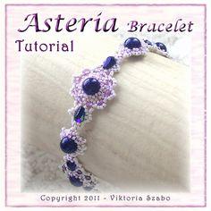 Asteria Beadwoven Lacey Bracelet  PDF by VikisBeadingTutorial, $8.00