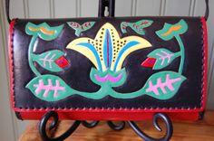 Handmade leather purse leatherarts.etsy.com