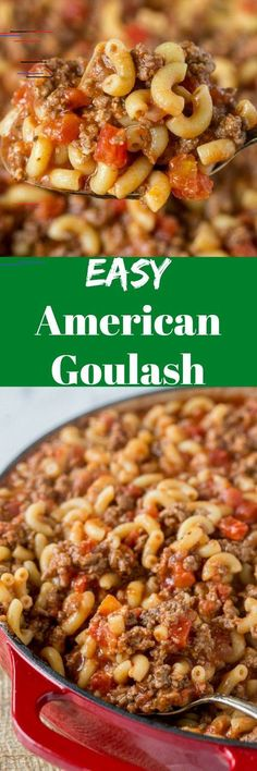Old Fashioned Goulash – The same American goulash recipe that you grew up with. A hearty recipe that the entire family can enjoy any night of the week. and Drink main dishes Old Fashioned Goulash Casserole Recipes, Pasta Recipes, Dinner Recipes, Cooking Recipes, Noodle Recipes, Beef Dishes, Pasta Dishes, Old Fashioned Goulash, American Goulash