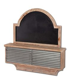 Wall Shelf & Chalkboard by Mercana #zulily #zulilyfinds