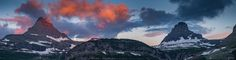 Panoramic view at Glacier National Park  Landscapes photo by freebilly http://rarme.com/?F9gZi