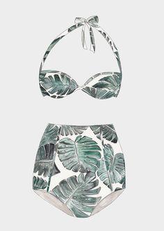 Banana Bikini Art Print Fashion Illustration Sketches, Illustration Mode, Fashion Sketches, Fashion Drawing Dresses, Fashion Design Portfolio, Bikini Ready, Vintage Swimsuits, Dress Sketches, Designer Lingerie
