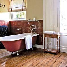 Warm and rich bathroom | Bathroom designs | Bathroom flooring | Housetohome