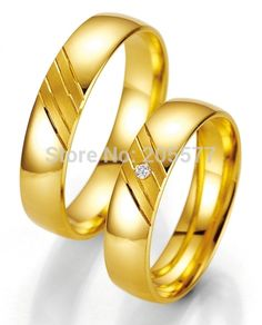 custom handmade Comfort Fit Titanium fantasy wedding Couple rings with gold plating layer Matching Wedding Bands, Wedding Rings, Alliance Duo, Gold Promise Rings, 14 Carat, Fantasy Wedding, Couple Rings, Engagement Jewelry, Diamond Rings