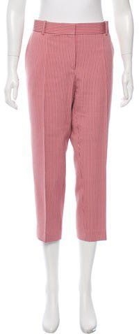 Celine Cropped Pinstripe Pants