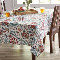 Better Homes Gardens Boho Jacobean Fabric Tablecloth 60 W X 102 L Available In Multiple Sizes Walmart Com In 2020 Boho Tablecloth Table Cloth Better Homes