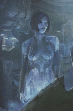 here's cortana's new look for the upcoming Halo 4 video game. in the backround is probably the cryostasis room where the Master Chief was frozen in the . cortana's new look halo 4 Master Chief And Cortana, Halo Master Chief, Video Game Logic, Video Game Art, Halo 4 Cortana, Game Character, Character Design, Halo Armor, Arte Alien