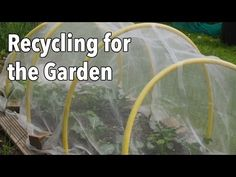 ▶ Recycling for the Garden: Upcycling Items for a More Productive Vegetable Garden - YouTube Acquiring equipment for gardening can be expensive, but it doesn't have to be. We've put together a list of items you can reuse and recycle in your garden. Great new video out today from growveg.com