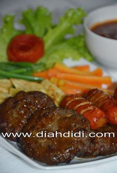 Diah Didi's Kitchen: Steak Daging Cincang & Sosis