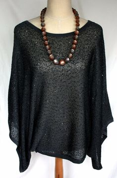 Get it at Bad Reputation! #JamieGries #CozyChic #Gray #Metallic #Sequins #DolmanSleeve #FlowingTop M #BatWing #Auction #Ebay #KnitTop #BidNow #Shimmer #Sexy #Sparkle #Sparkles #Flowing #Style #Classy