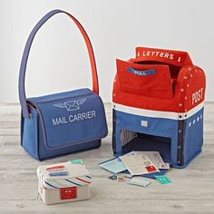 Make a special delivery with the help of our Mail Call Play Set. This post office play set includes a mailbox, mailbag, postcard, envelope plus, stamps and labels. All play items are extra soft making it easy for little ones to grasp. All Toys, Kids Toys, Land Of Nod, Fun Activities For Kids, Childcare Activities, Dramatic Play, Baby Store, Gift List, Crate And Barrel