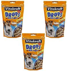 VitaKraft Drops with Yogurt Dog Treat Snacks  3 PACK * Check out the image by visiting the link.