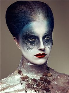 Halloween costume ideas Extreme, Strange, Bizarre, Unique Makeup Looks, Tips and Tutorials Witch Makeup, Sfx Makeup, Costume Makeup, Alien Makeup, Kryolan Makeup, Dead Makeup, Zombie Makeup, Fairy Makeup, Airbrush Makeup