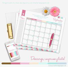 Good Monday! Hoy descarga GRATIS el calendario mensual de Septiembre. Descarga e imprime para organizarte y no olvidar ninguna fecha importante.