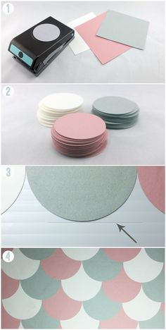 scallop backdrop diy