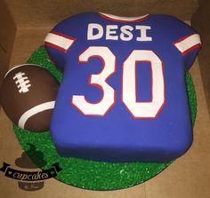 Giants football jersey cake