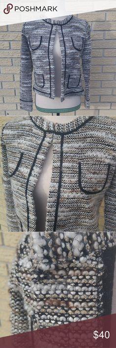 5ee9a4cda4 Ann Taylor Loft Boucle Sweater Ann Taylor Loft Petites Metallic gold