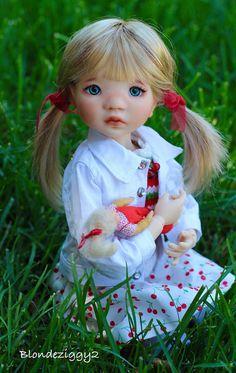 """18/"""" American doll clothes fiore vestito con splendidamente realizzati a mano"""