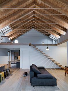AG House by Rocco Borromini – Minimalistisch-modern - Style Architectural Modern Barn House, Modern House Design, Loft Design, Architecture Plan, Interior Architecture, House Doors, Home Fashion, Home Interior Design, House Plans