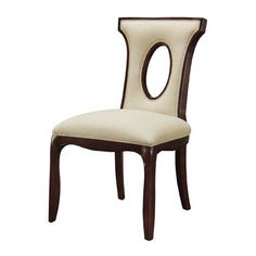 Plantation Grown Hardwoods and Imported Fabric 38.25-Inch Blakemore Side Chair