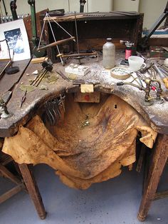 Jewelry bench    in the old Smith and Pepper Factory via Islay Taylor