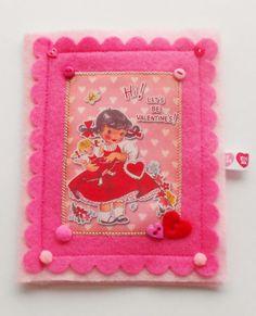 Rétro inspiré livre aiguille Valentin par picocrafts sur Etsy, $8.50