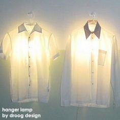 Droog Design, Clothes hanger lam. //design d'objet //détournement chemises