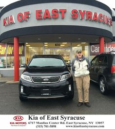 Bought my second Kia Sorrento at Kia Of East Syracuse with My sales person Eduardo  William Tyler Friday, December 19, 2014